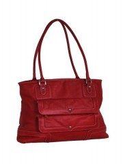 Maroon Leather Women Handbags