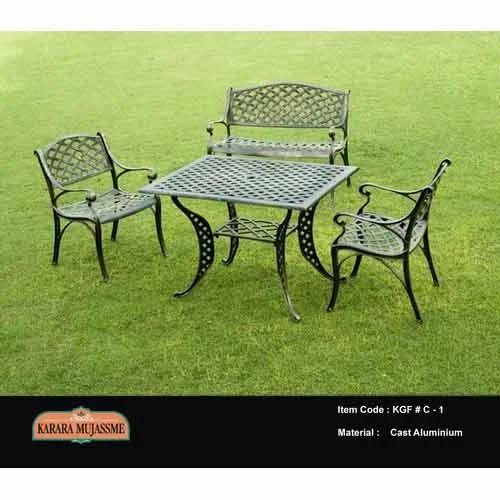 Vintage Cast Aluminum Garden Chair Set