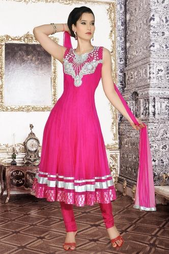 Designer Net Anarkali Suit in Big Flair