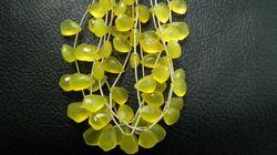 Yellow Chalcedony Necktie Briolette