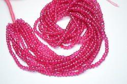 Hot Pink Mystic Quartz Faceted Beads