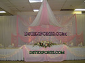 Wedding Stage Pink White Backdrop