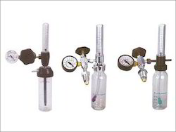 Oxygen Adjustment Valve with Rotameter & Humidifier Bottle