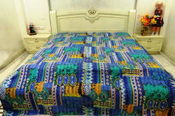 Kantha Zig Zag Cotton Bed Cover