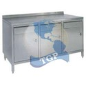 Stainless Steel Table with 3 Drawers and 3 Lockers
