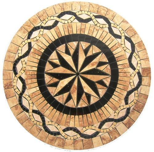 Tile floor medallion