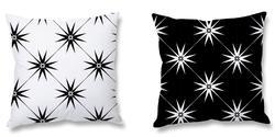 Star Print Cushion And Cushion Cover