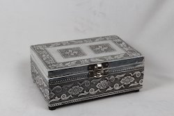 White Metal Jewellery Box