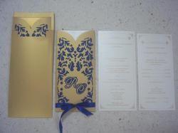 Custom Cut Laser Cut Wedding Cards with Initials of Bride