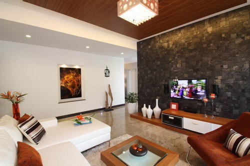 Living room wall tiles images