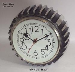 designer metal table clock