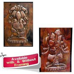 Amazing Ganesha - Copper Sheet Wall Decorative Frame