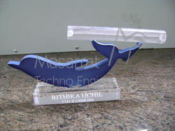 Acrylic Dolphin Visiting Card Holder