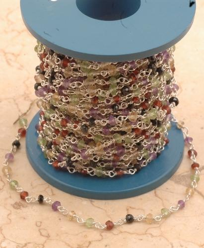 Multi Semi Precious Beaded Chain