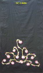 Cotton Printed Embroidery Scarves