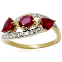 Yellow Gold Ruby Ring