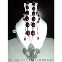 German Silver Ruby Necklace