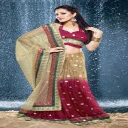 Net Sarees With Stole