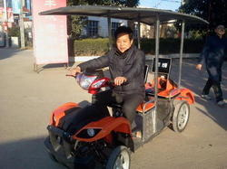 gogo solar powered four wheeler