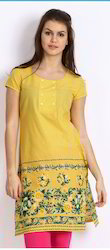 Gorgeous Yellow Kurta with Screen Print