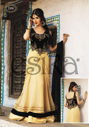Exclusive Lycra Net Anarkali Suit