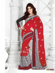 Designer Embroidery Work Beauty Sarees