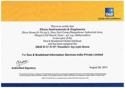 EIE Duns Number Certificate