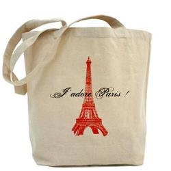 Paris Canvas Bags