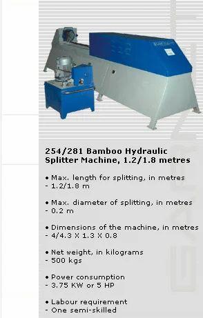 Bamboo Hydraulic Splitter Machine
