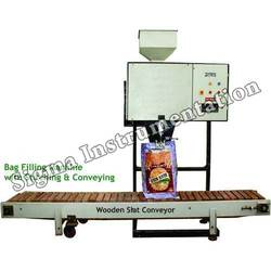 Bag Filling Machine with Switching and Conveying