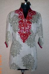 Thread Work Linen Kurti