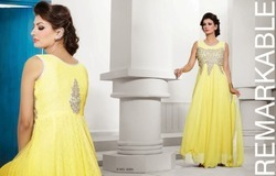 yellow designer dress