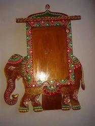 Wooden Elephant Photo Frame