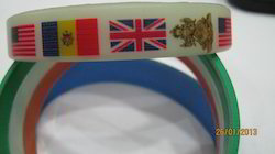 Multi Colour Printed Silicon Wristband