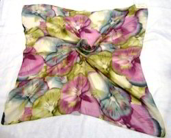 Polyester Printed Square Scarves