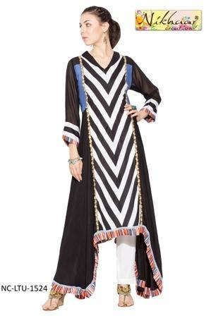 Ladies Fashion Designer Long Suits Pakistani Style