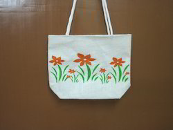 Flower Print Promotional Jute Bag