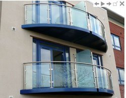 Helical Glass Balcony Models