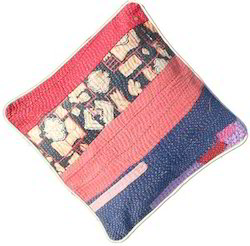 Patch Kantha Cushion