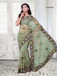 Net Flora Design Bollywood Designer Sarees