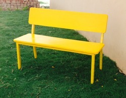 Garden Bench With Fiber Back Seat