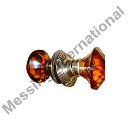 Glass Mortice Door Knobs Set