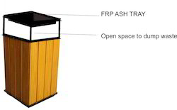 Wooden Bin with Ash Tray