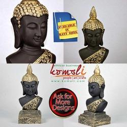 Buddha Head - Face - Poly Resin Statue