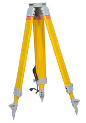 wooden tripod for total station