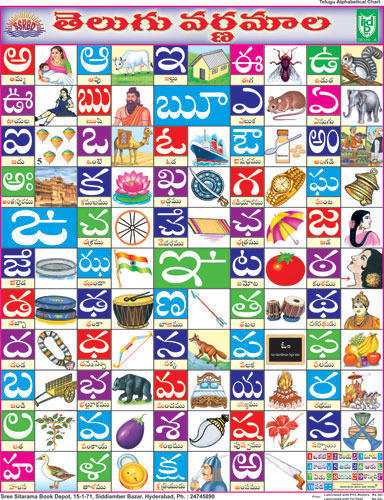 Worksheets Telugu Alphabets Chart alphabet charts hindi chart manufacturer from delhi