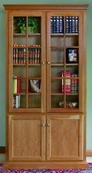 Wooden Glass Bookcase