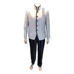 Off White Wedding Indo Western Suit