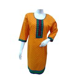 Orange Ethnic Kurti