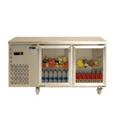 Two Door Glass Counter Refrigerator